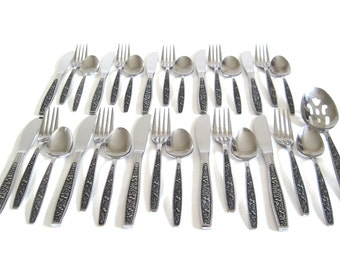 Flatware Set Vintage Pageant Stainless Harvest, Basic Service for 8 or 10
