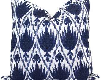 Lacefield Casablance Midnight Blue Decorative Pillow Cover, Throw Pillow, Accent Pillow, Pillow Sham