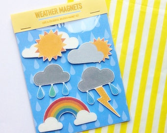 Cute Weather Magnets Set