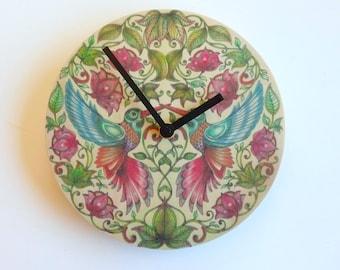 Objectify Hummingbird Kiss Wall Clock