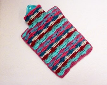 Hot water bottle cover crochet hottie
