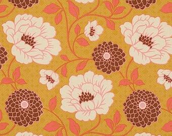 54016 Joel Dewberry Bungalow Dahlia in Maize  color fabric - 1 yard