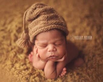 Newborn Hat KNITTING PATTERN The Kelley Slouch Hat Pattern