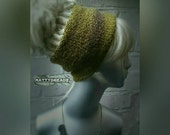 Austru Dread Tube in Woodland Green. Chunky Hand-knit Double Thickness Dread Sock. Dread Wrap. Dread Band. Head Hugger. Unisex. Acrylic. 007