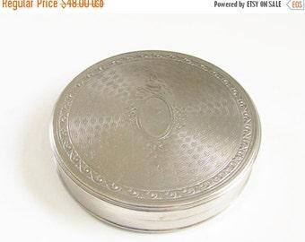 SaLe Vintage Richard  Hudnut Gardenia Powder Compact Silver 1920s