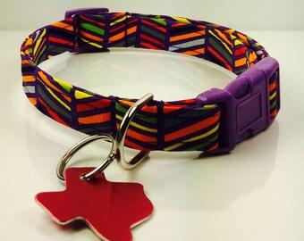 Purple Straw Dog Collar - Adjustable
