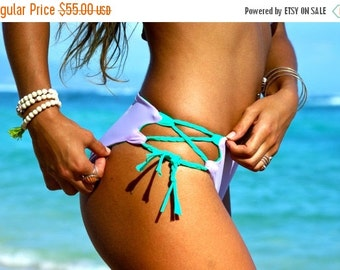 30% Off Sale KULA : REVERSIBLE Lace Up Bikini Bottoms 2 Suits in 1
