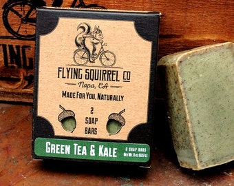 2-Pack Green Tea & Kale Natural Soap - Item# CPS_GRNKL_01