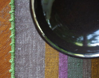 Table Runner - Funny Colour Stripes OOAK