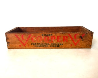 Vintage wooden cheese box /  crate