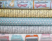 Type from Windham Fabric Bundle - Half Yard Bundle - 5 Half Yard pieces (B368)
