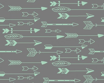 Cholena - Grey Arrows from 3 Wishes Fabric