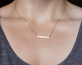 Hammered Bar Necklace (Various Colours)