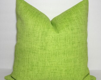 OUTDOOR Pillow Cover Solid Lime Chartreuse Patio Deck Pillow 18x18 Green Accent Pillow Cover All Sizes