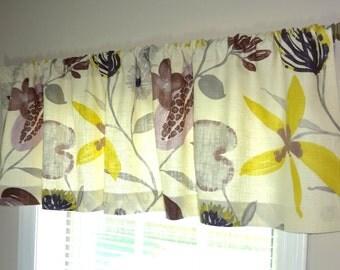 Curtain Valance Topper Window Valance 52x15 Braemore Ray of Sun Iris Linen Valance