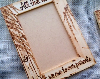 Picture Frame for Parents Inspirational • Religious • Wedding Gift • Willow Tree • Artist Engraved • Spiritual • Family • Love