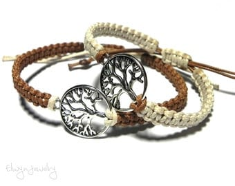 Tree Of Life Bracelets, Matching Couple Bracelets, Long Distance Relationship, Friendship Bracelets, Couples Jewelry, Tree Bracelet