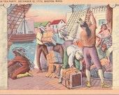 Boston, Massachusetts, Boston Tea Party - Linen Postcard - Unused (D)