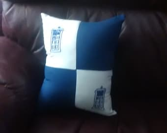 TARDIS Patchwork Pillow