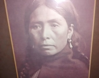 Valentine SALE Native American Portrait , American Indian Photographic Print ,