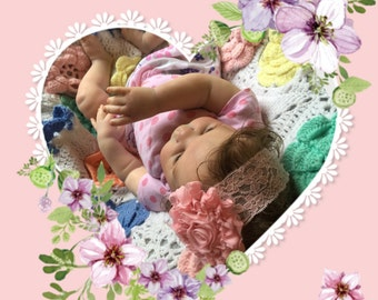 Reborn Willow Flower Beautiful Rooted Baby Girl 3 Month Old GORGEOUS Ready To Ship! Portrait