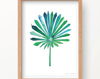 Tropical Fan Leaf Print