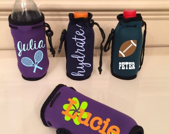 Water Bottle Neoprene Cozie, Personalized Cozie for Beverage Bottles, Drink Holders for Kids, Great for Camp/Sports!