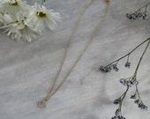 Petit Rhinestone Anchor Necklace