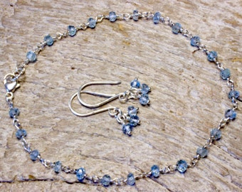 March Birthstone Jewelry Set, Aquamarine Jewelry Set, Girls Birthstone Jewelry Set, Something Blue, Bridesmaid Jewelry Gift Idea