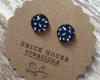Navy Flight Earrings