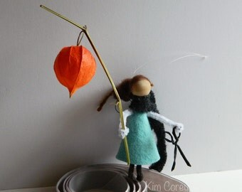 Florist Fairy With Chinese Lantern