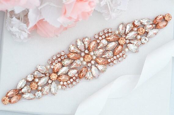 ROSE GOLD SALE crystal rhinestone Wedding Belt, Bridal Belt, Sash Belt, Crystal Rhinestones belt