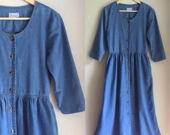 Denim dress size small