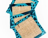 Burlap coasters - Set of ...