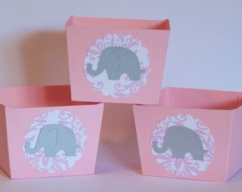 pink and gray baby shower decorations etsy