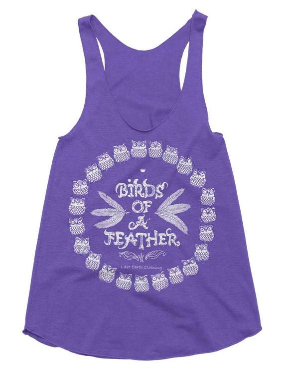 Birds Of A Feather Tri-Blend Racerback Tank - American Apparel Tanktop - XS S M L (Color Options)