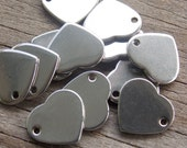 20 Stainless Steel Heart Charms 11mm Stamping Blanks