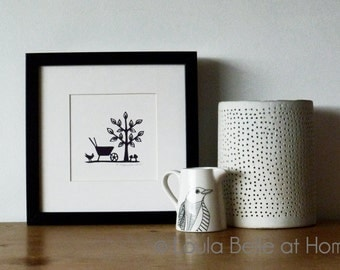In the Garden, an original mini papercut by Loula Belle at Home
