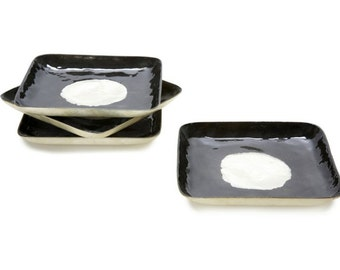 4 Capiz Mother of Pearl Plates