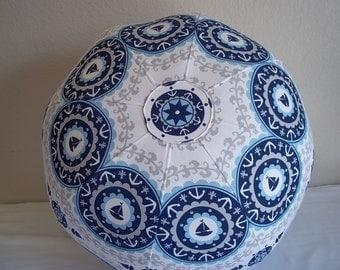 Nautical Themed Pouf--Magic Moon-Nautical Aboriginal Cotton
