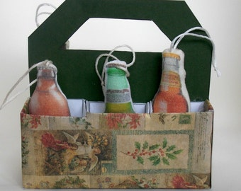 Stuffed Beer Ornaments  Set 55