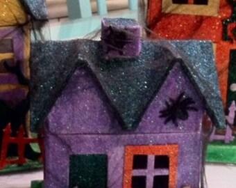 Halloween Glitter House - Small