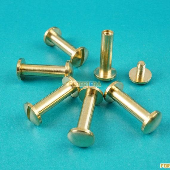 Mm solid brass rivet chicago screw for leather craft belt