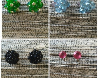 Vintage Costume Earrings - Lot of 8 Pairs!