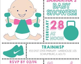 Crossfit Baby Shower Digital File