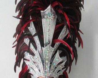 Vegas Feather Roman King Queen of the World Warrior Headdress