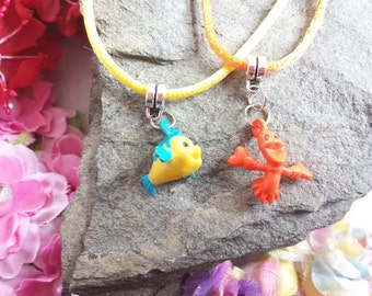 10 Sebastian and Flounder Necklaces Party Favors