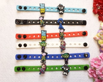 10 Teen Titans Silicone Bracelets Party Favors