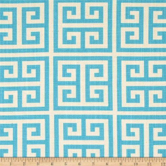 Fabric Yardage Mandarin Blue Towers Fabric Premier