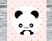 Printable nursery decor, panda cub nursery, instant download, girl nursery, nursery download, panda nursery, kids art, baby girl nursery